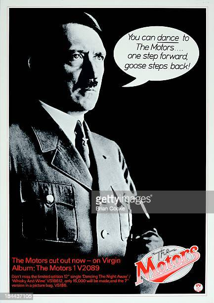 LONDON FEBRUARY 1977 Poster featuring Adolf Hitler promoting The Motors' eponymous debut album released by Virgin Records in February 1977 Design by...