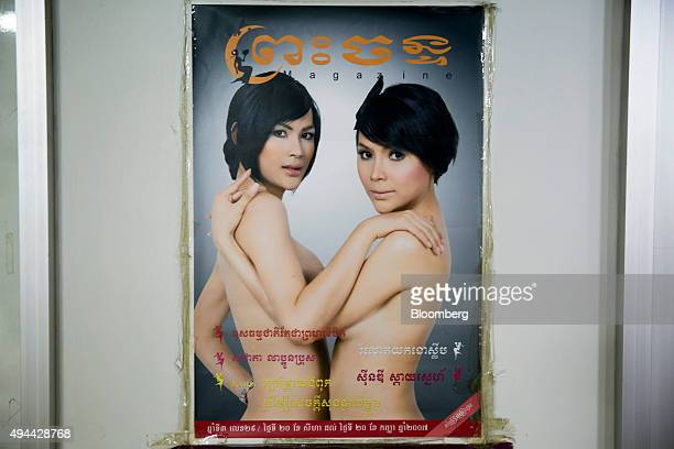 A poster featuring transgender women hangs on display at the Pratunam Polyclinic in Bangkok Thailand on Friday Oct 2 2015 For about 70000 baht...