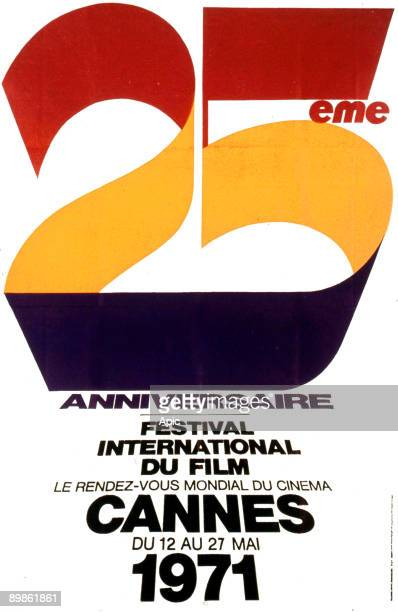 Poster for 25th International Film Festival in Cannes in 1971