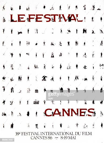 Poster for 39th International Film Festival in Cannes in 1986