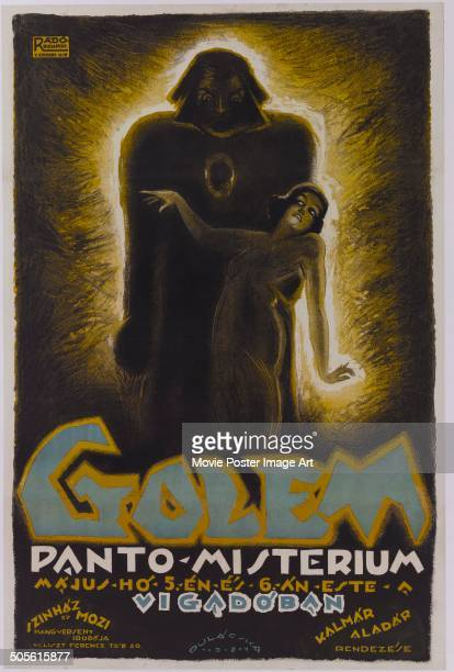 A poster for a film adaptation of Gustav Meyrink's novel 'The Golem' circa 1920