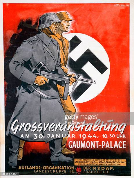 NSDAP poster for a meeting at the Gaumont Palace France 30th January 1944
