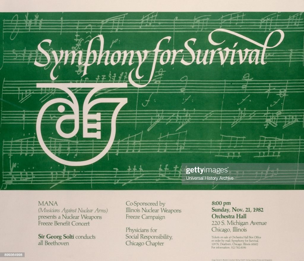 Campaign Update Archives Physicians For Social Responsibility >> Poster For A Symphony For Survival Concert By The Chicago