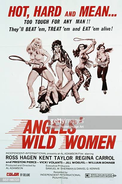 A poster for Al Adamson's 1972 action film 'Angels' Wild Women'