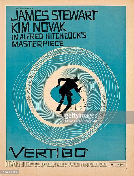 A poster for Alfred Hitchcock's 1958 mystery film 'Vertigo'