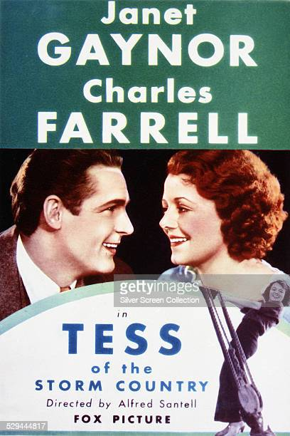 A poster for Alfred Santell's 1932 drama film 'Tess Of The Storm Country' starring Janet Gaynor and Charles Farrell