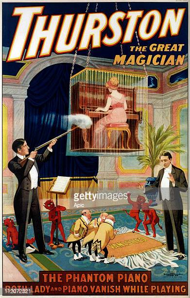 Poster for american conjuror Howard Thurson the phantom piano 1911