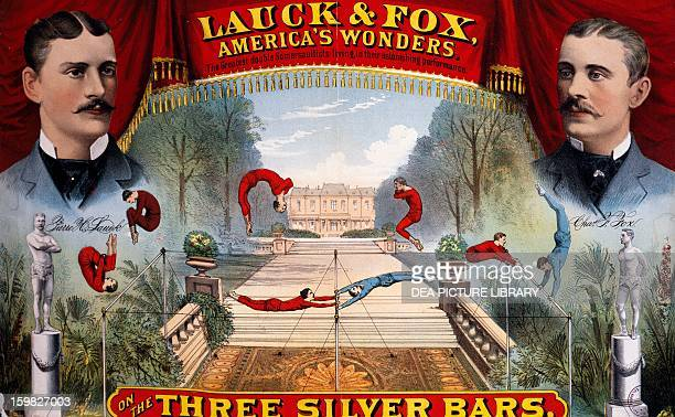 Poster for an acrobatic show United States 19th century Paris Musée Des Arts Decoratifs