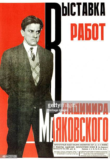 Poster for an exhibition of Vladimir Mayakovsky's works 1931 Mayakovsky was a very popular poet of the early Soviet era He defined his work as...