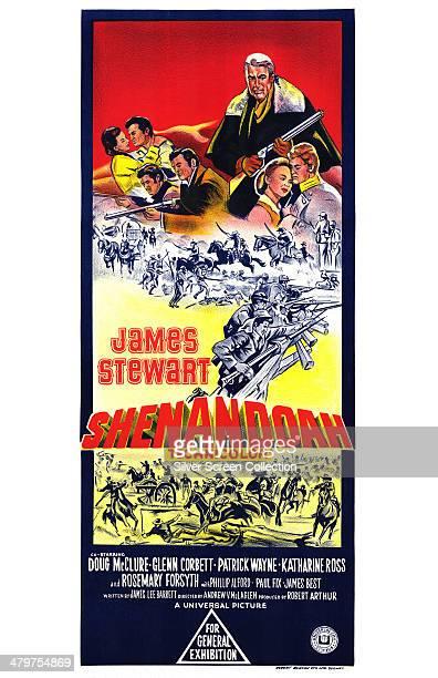 A poster for Andrew V McLaglen's 1965 American Civil War film 'Shenandoah' starring James Stewart
