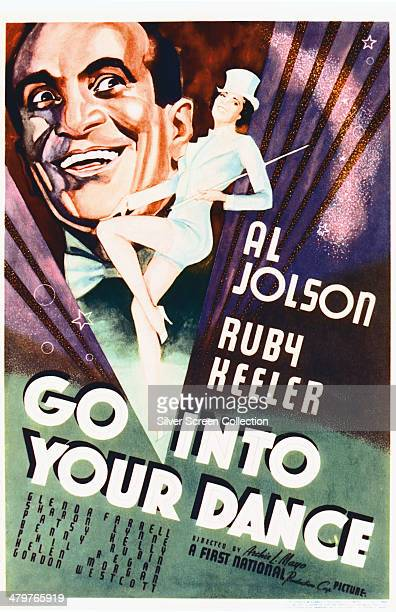 A poster for Archie Mayo's 1935 musical 'Go Into Your Dance' starring Al Jolson