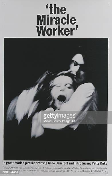 A poster for Arthur Penn's 1962 biopic 'The Miracle Worker'