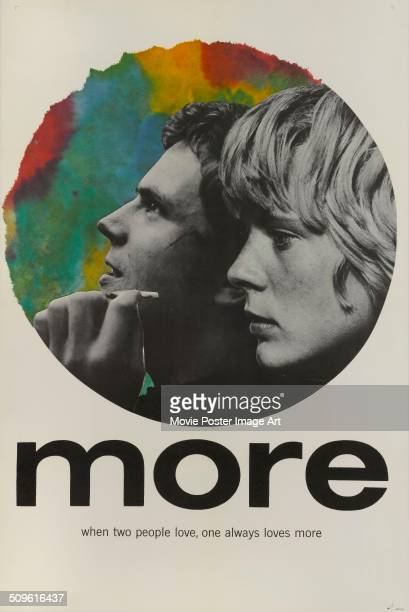 A poster for Barbet Schroeder's 1969 drama 'More' starring Mimsy Farmer and Klaus Grünberg