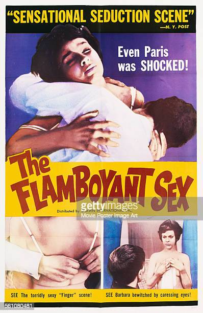 A poster for Barbro Boman's 1962 comedy 'The Flamboyant Sex'