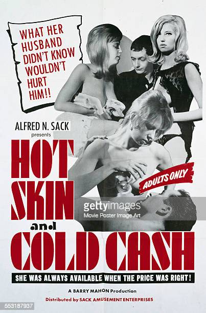 A poster for Barry Mahon's 1965 drama 'Hot Skin Cold Cash' starring Victoria Astor