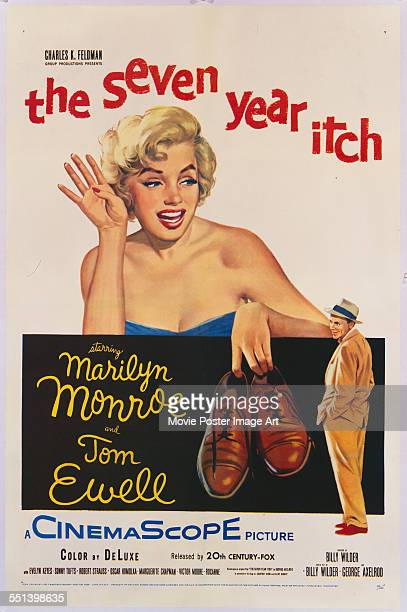 Poster for Billy Wilder's 1955 comedy 'The Seven Year Itch' starring Marilyn Monroe and Tom Ewell.