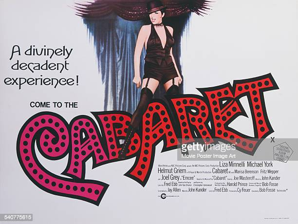A poster for Bob Fosse's 1972 drama 'Cabaret' starring Liza Minnelli