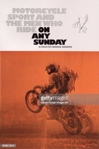 A poster for Bruce Brown's 1971 documentary 'On Any Sunday'