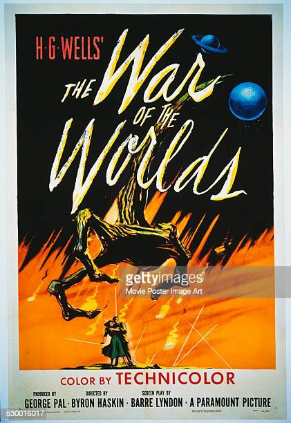 A poster for Byron Haskin's 1953 action film 'The War of the Worlds'