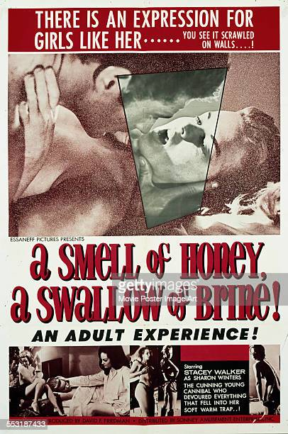 A poster for Byron Mabe's 1966 drama 'A Smell of Honey a Swallow of Brine' starring Stacey Walker