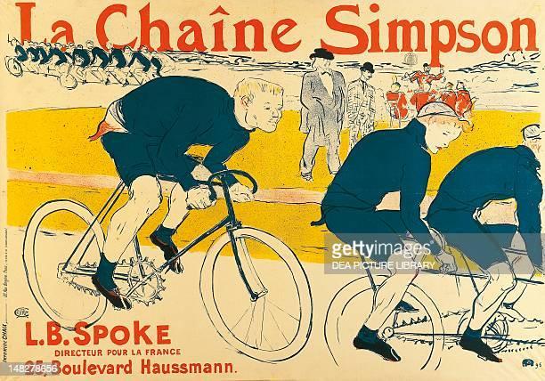Poster for Catene Simpson by Henri de Toulouse Lautrec lithograph Albi Musée ToulouseLautrec