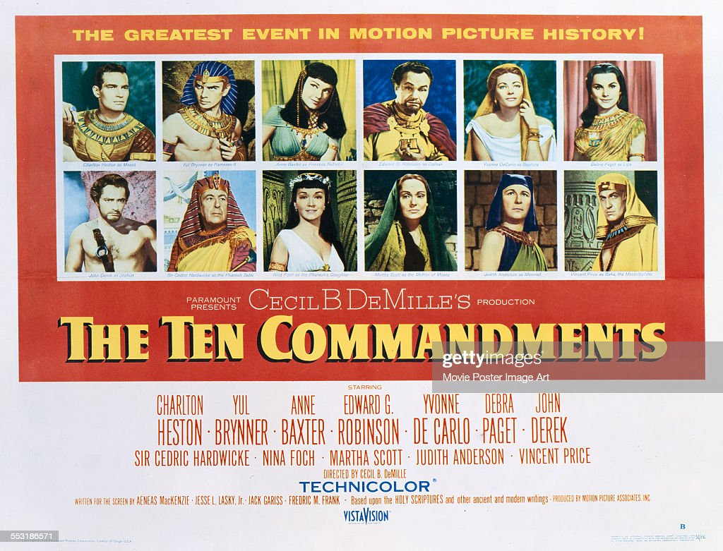 The Ten Commandments : News Photo