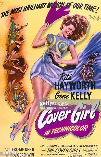 A poster for Charles Vidor's 1944 musical film 'Cover Girl' starring Rita Hayworth and Gene Kelly