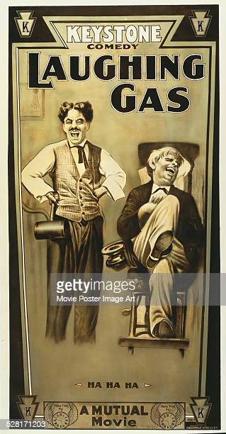 A poster for Charlie Chaplin's 1914 comedy 'Laughing Gas'