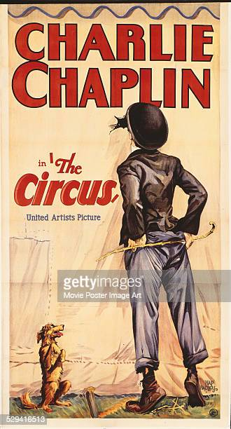 A poster for Charlie Chaplin's 1928 comedy 'The Circus'