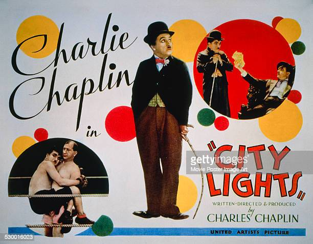A poster for Charlie Chaplin's 1931 comedy 'City Lights'
