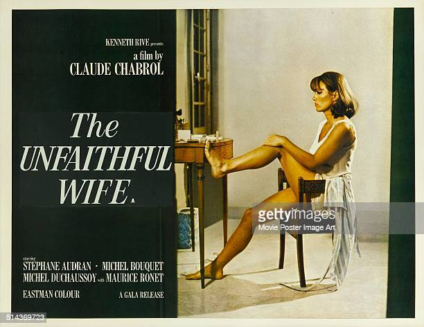 A poster for Claude Chabrol's 1969 crime film 'The Unfaithful Wife' starring Stéphane Audran