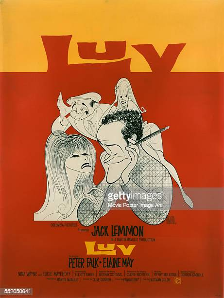 A poster for Clive Donner's 1967 comedy 'Luv' starring Jack Lemmon and Elaine May