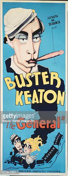 A poster for Clyde Bruckman's 1926 action film 'The General' starring Buster Keaton