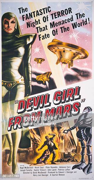 A poster for David MacDonald's 1954 sciencefiction film 'Devil Girl from Mars' starring Patricia Laffan