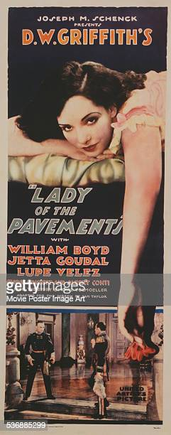 A poster for DW Griffith's 1929 drama 'Lady of the Pavements' starring Lupe Velez