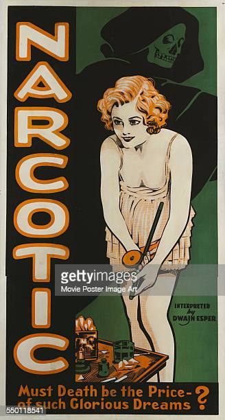 A poster for Dwain Esper and Vival Sodar't's 1933 drama 'Narcotic' starring Joan Dix