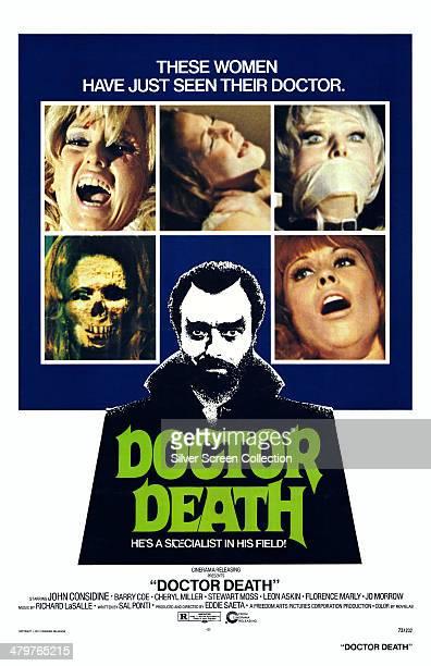 A poster for Eddie Saeta's 1973 horror film 'Doctor Death Seeker of Souls' starring John Considine