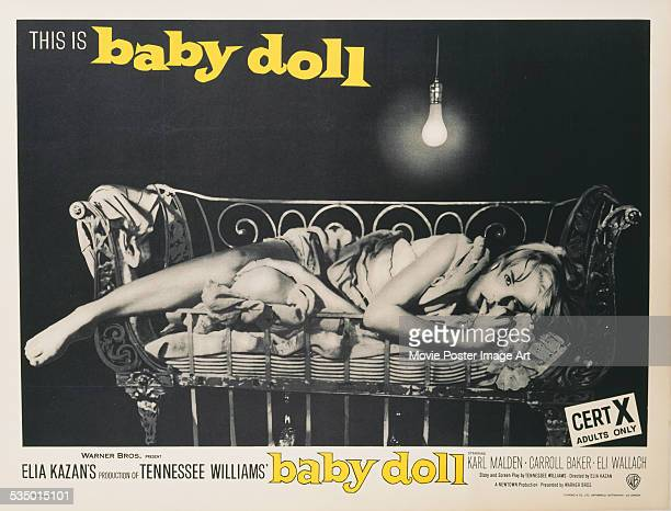 A poster for Elia Kazan's 1956 drama 'Baby Doll' starring Carroll Baker