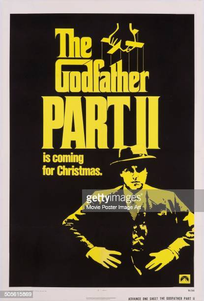 A poster for Francis Ford Coppola's 1974 drama 'The Godfather Part II'