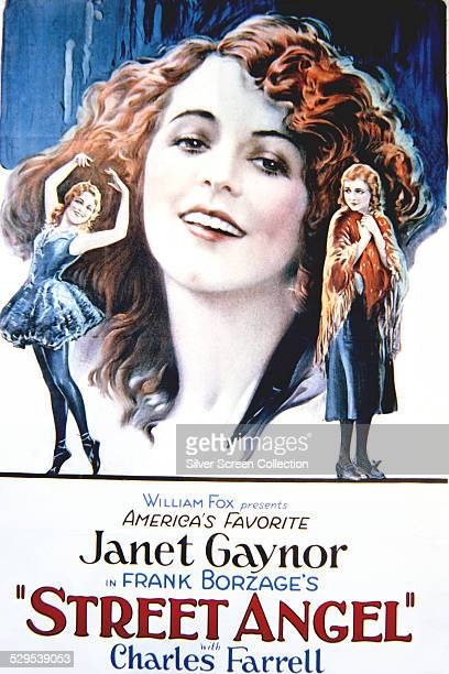 A poster for Frank Borzage's 1928 silent drama 'Street Angel' starring Janet Gaynor