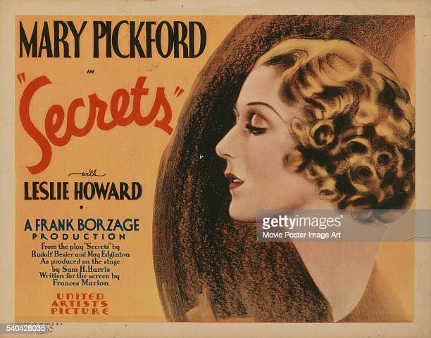 A poster for Frank Borzage's 1933 western 'Secrets' starring Mary Pickford This was Pickford's last onscreen film role