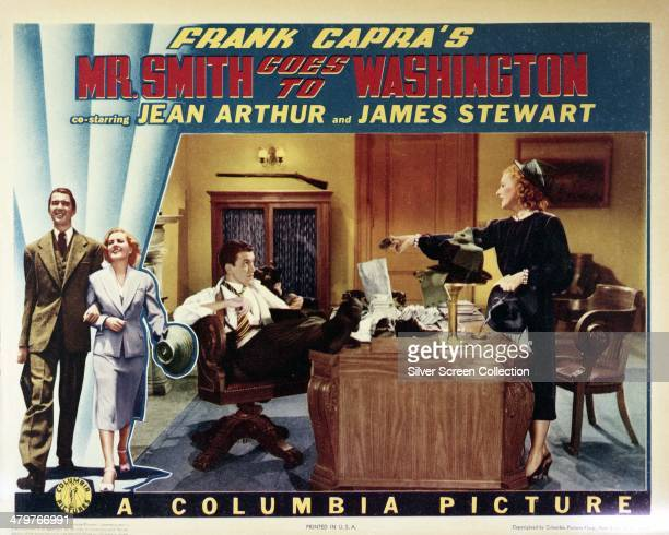 A poster for Frank Capra's 1939 comedydrama 'Mr Smith Goes To Washington' starring James Stewart and Jean Arthur
