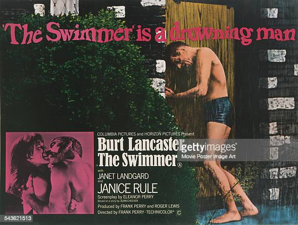 A poster for Frank Perry's 1968 drama 'The Swimmer' starring Burt Lancaster and Janice Rule