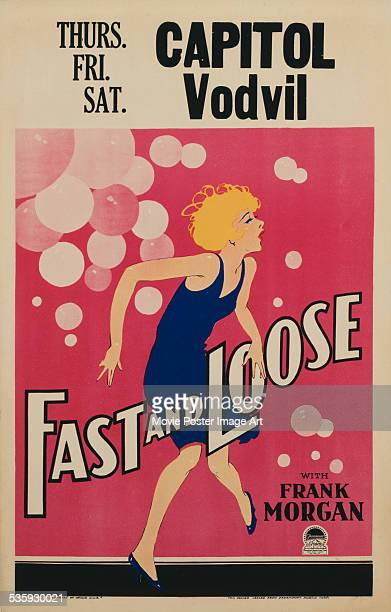 A poster for Fred C Newmeyer's 1930 comedy 'Fast and Loose' starring Miriam Hopkins