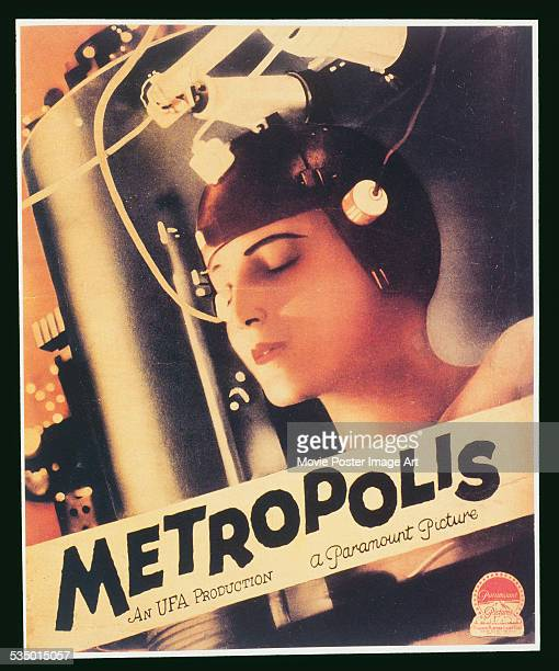 A poster for Fritz Lang's 1927 drama 'Metropolis' starring Brigitte Helm