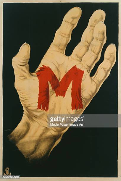 A poster for Fritz Lang's 1931 crime film 'M'