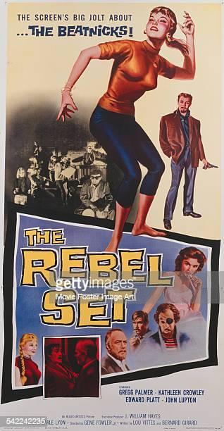 Poster for Gene Fowler Jr.'s 1959 crime film 'The Rebel Set' starring Gregg Palmer, Kathleen Crowley, Edward Platt, and John Lupton.