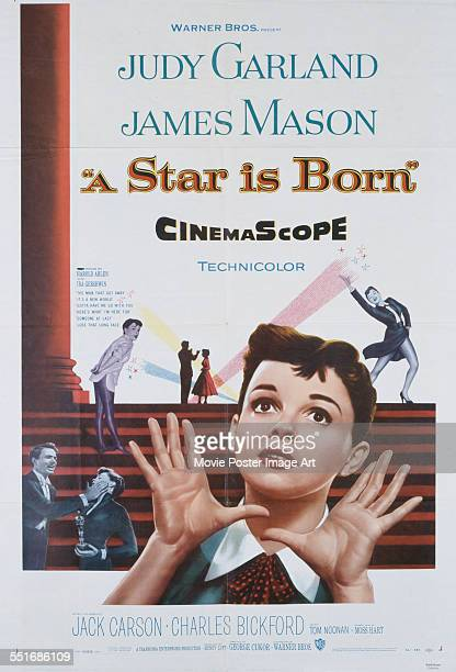Poster for George Cukor's 1954 drama 'A Star Is Born' starring Judy Garland and James Mason.