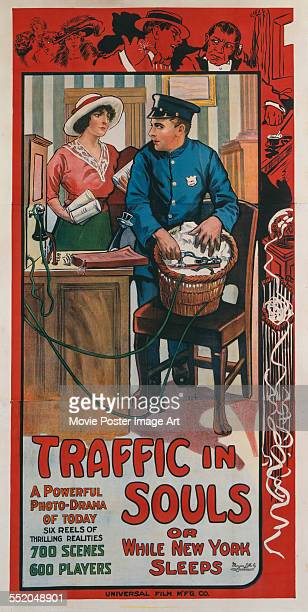 A poster for George Loane Tucker's 1913 crime film 'Traffic in Souls'