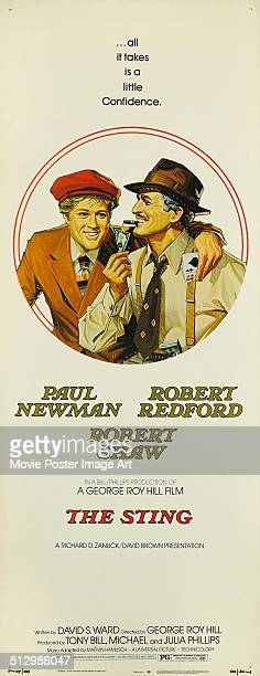A poster for George Roy Hill's 1973 comedy 'The Sting' starring Paul Newman and Robert Redford